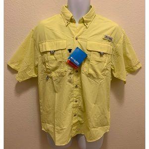 Columbia PFG Omni-Shade Vented Shirt Yellow XS